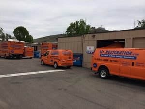 Water Damage Restoration Fleet At Headquarters